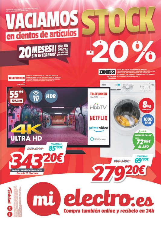 Ofertas de MiElectro, Stock