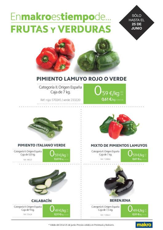 Ofertas de Makro, Es tiempo de frutas y verduras