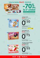 Ofertas de Dia, Todos los helados Dia o Delicious -70% la segunda unidad