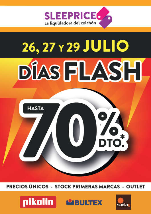 Ofertas de Sleeprice, Días flash - Hasta 70% dto.