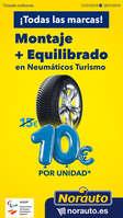 Ofertas de Norauto, ¡Montaje y equilibrado de neumáticos por 10€!