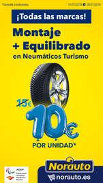 ¡Montaje y equilibrado de neumáticos por 10€!