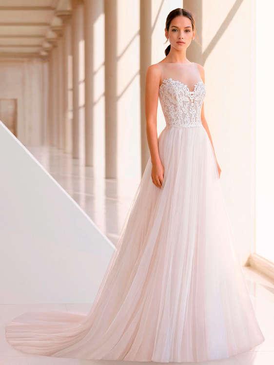 Ofertas vestidos novia rosa clara