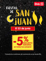 Ofertas de Dia Market, Fiestas de San Juan. -5% de descuento