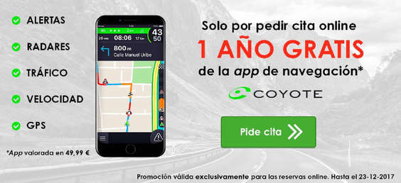 Ofertas de Carglass, 1 año gratis de la app de navegación