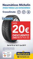 Ofertas de Norauto, Hasta 20€ DTO con Neumáticos Michelin Crossclimate