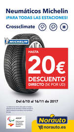 Hasta 20€ DTO con Neumáticos Michelin Crossclimate