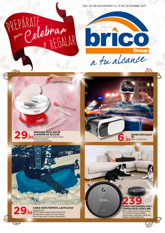 Ofertas de Bricogroup, Prepárate para Celebrar y Regalar