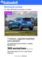 Ofertas de Banco Sabadell, Renting de coches