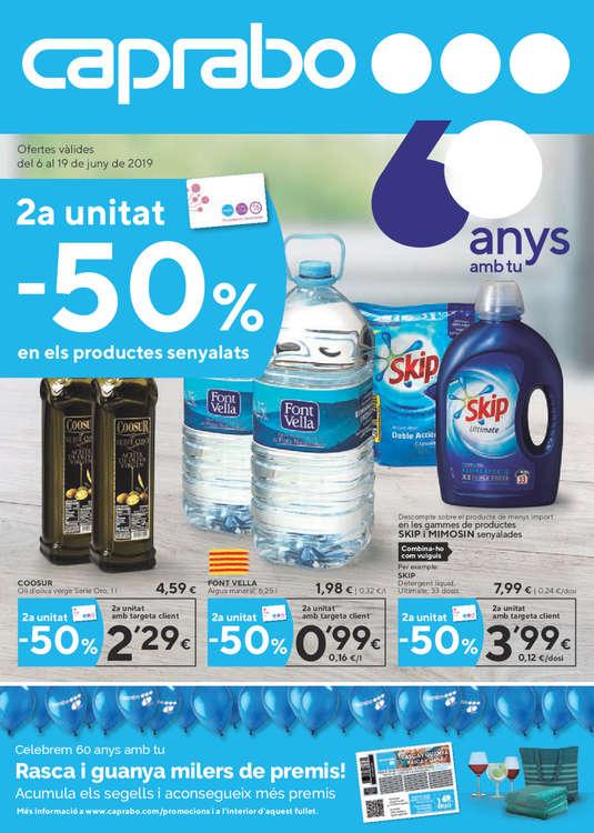 Ofertas de Caprabo, 2a Unitat -50% en els productes senyalats