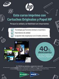 Este curso imprime con Cartuchos originales  y papel HP