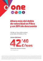 Ofertas de Vodafone, Ahora más del doble de velocidad en fibra y un 20% de descuento