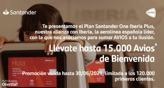 Ofertas de Santander, Plan Santander One Iberia Plus
