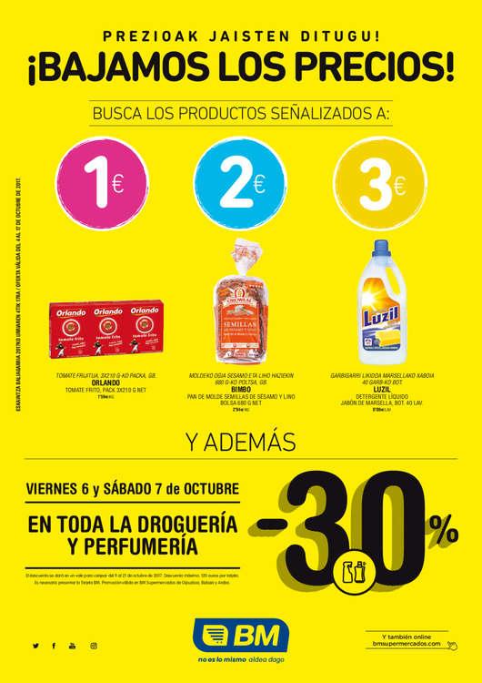 Ofertas de BM Supermercados, ¡Bajamos los precios!