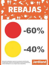 Rebajas de -60% y -40%