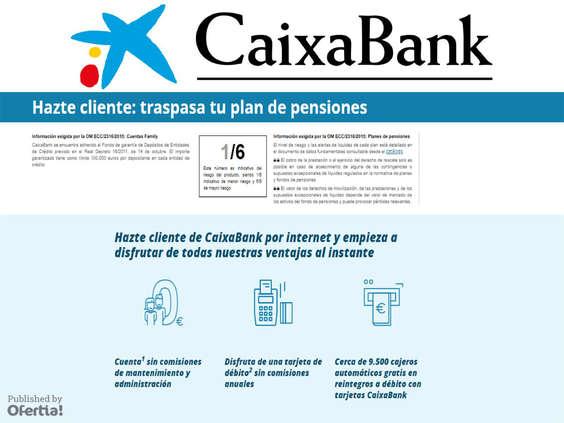 Ofertas de La Caixa, Plan de pensiones