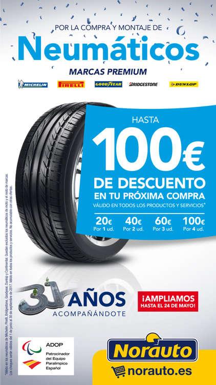 Ofertas de Norauto, Hasta 100 € de descuento en tu próxima compra