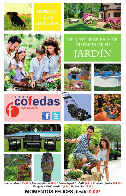 Ofertas de Grupo Cofedas, Disfruta de tu jardín