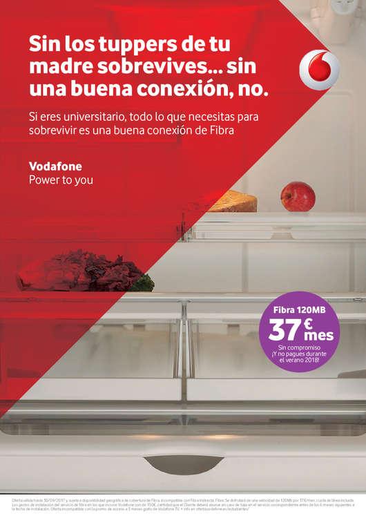 Ofertas de Vodafone, Sin los tuppers de tu madre sobrevives... sin una buena conexión, no