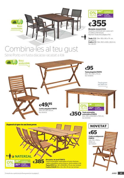 Comprar Conjunto mesa y sillas comedor barato en Vic - Ofertia