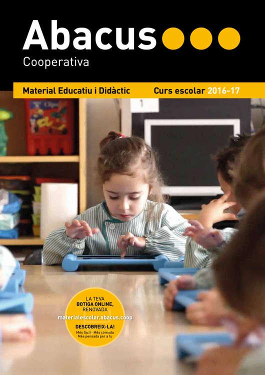 Ofertas de Abacus, Material educatiu 2016-17