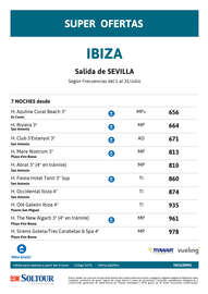 Super ofertas a Ibiza