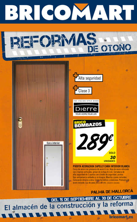 Puerta galvanizada bricodepot fabulous ofertas de bricor for Casetas de perro bricodepot
