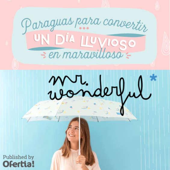 Ofertas de Mr Wonderful, Paraguas para convertir un día lluvioso en maravilloso