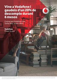 Vine a Vodafone i gaudeix d'un 20% de descompte durant 6 mesos