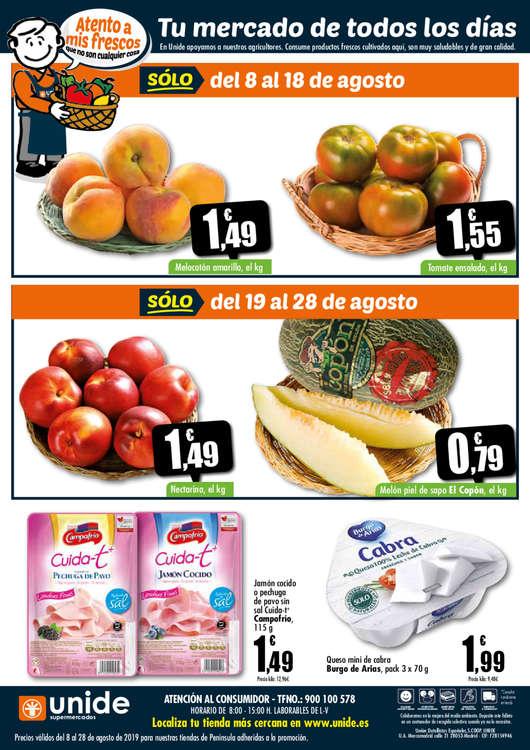 Ofertas de Supermercados Unide, Este verano haz tu agosto