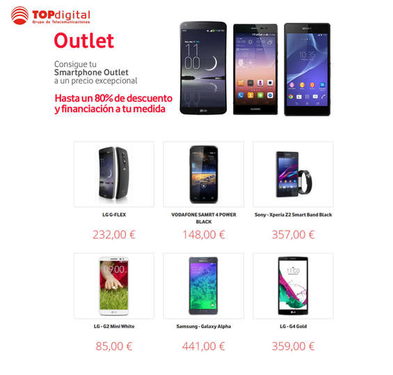 Ofertas de TOPdigital, Outlet