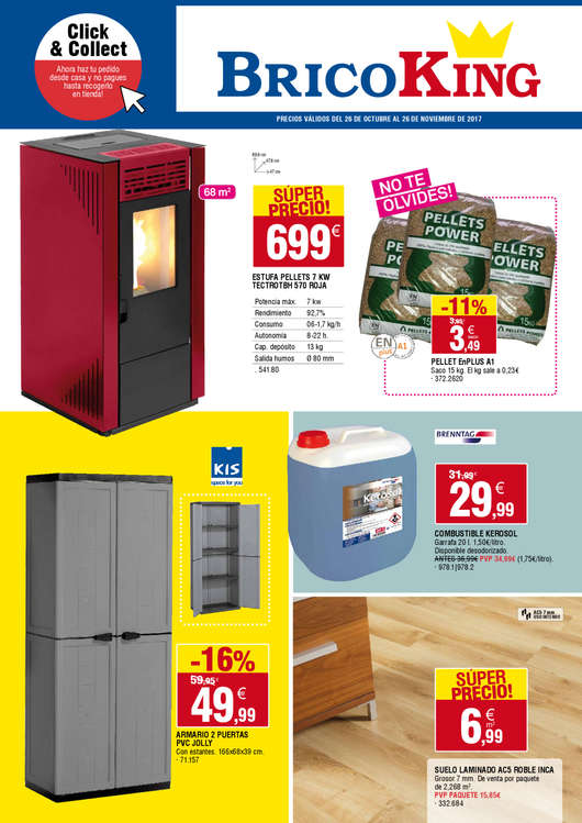 Ofertas de Bricoking, Click & Collect