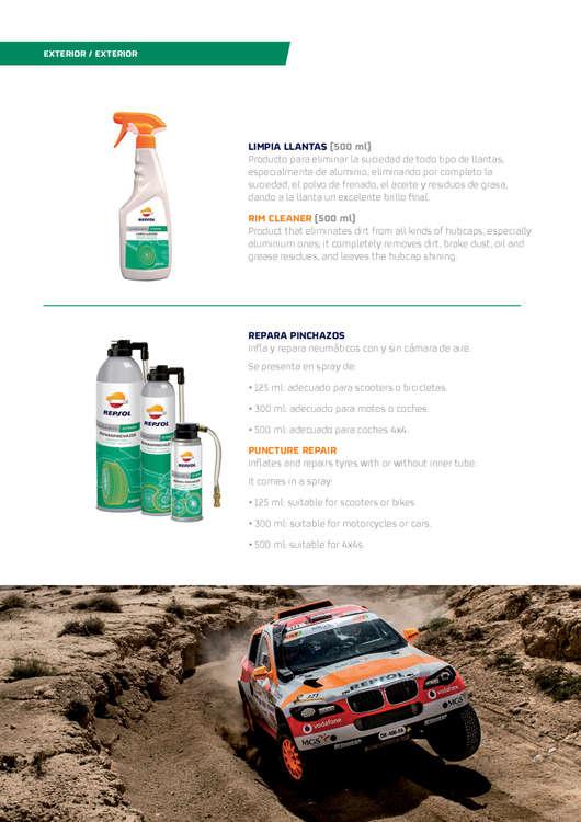 Ofertas de Repsol, Productos para el cuidado y mantenimiento del vehículo