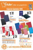 Ofertas de Folder, Especial agendas 2018