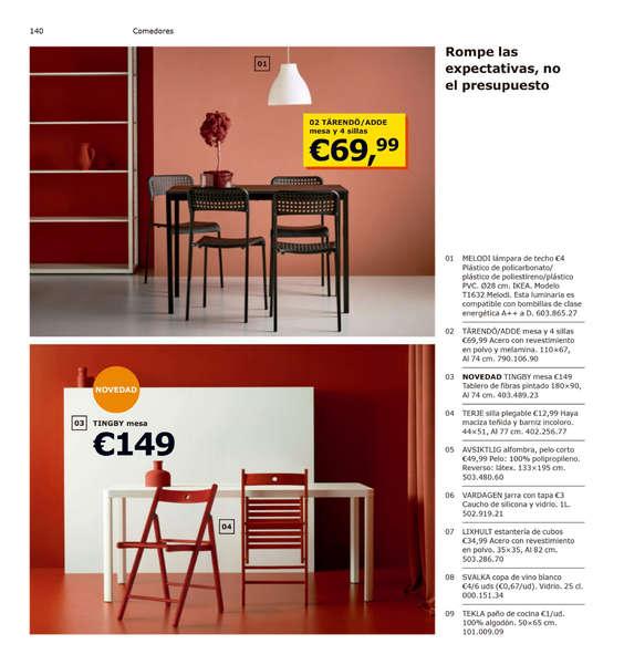 Ikea Conjunto De Mesa Y Sillas.Comprar Conjunto Mesa Y Sillas Comedor Barato En Almonte Ofertia