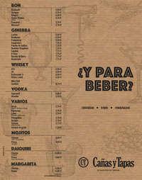 Carta Bebida