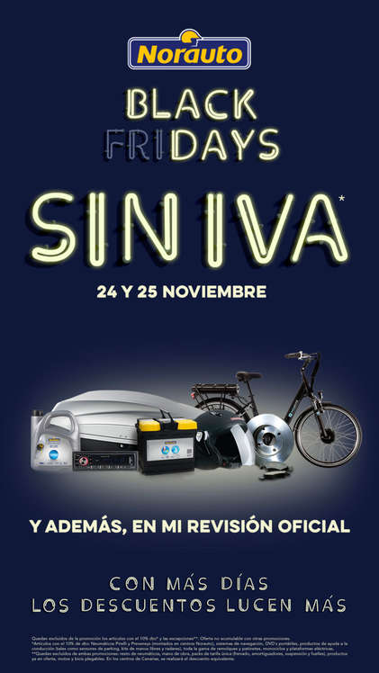 Ofertas de Norauto, Black Fridays sin IVA
