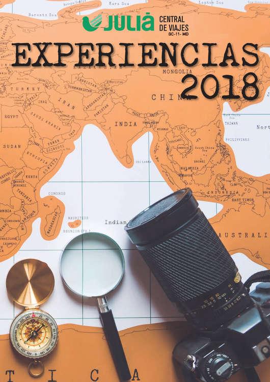 Ofertas de Central de Viajes, Experiencias 2018
