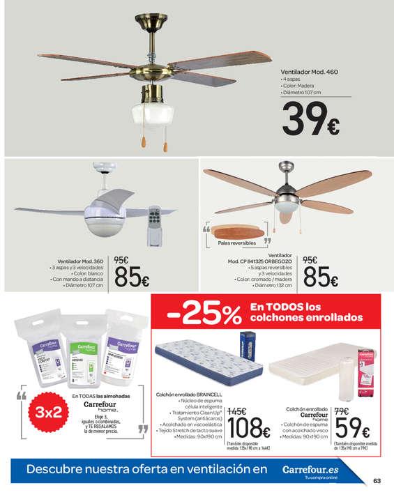 Comprar ventilador de techo barato en guilas ofertia - Ventilador techo carrefour ...